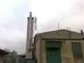 Montáž žebříku na komín kotelny v závodě Rotor Clip v Budyni nad Ohří